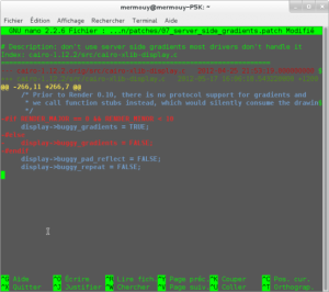 Capture patch Debian Chromium