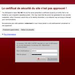 Certificat de sécurité Yunohost