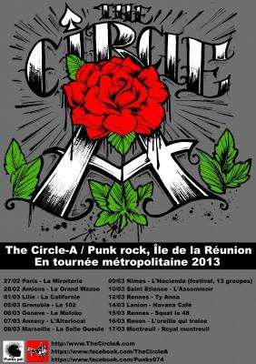 Affiche tournée Circle-A