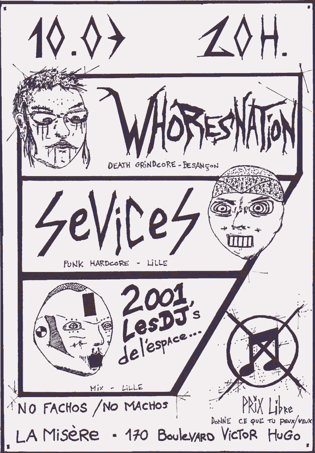 whores nation + sévices