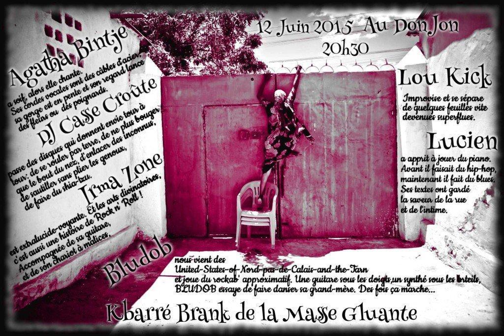 affiche kbarré brank la masse gluante 12/06/2015 Lille