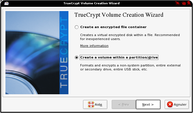 Assistant truecrypt elive