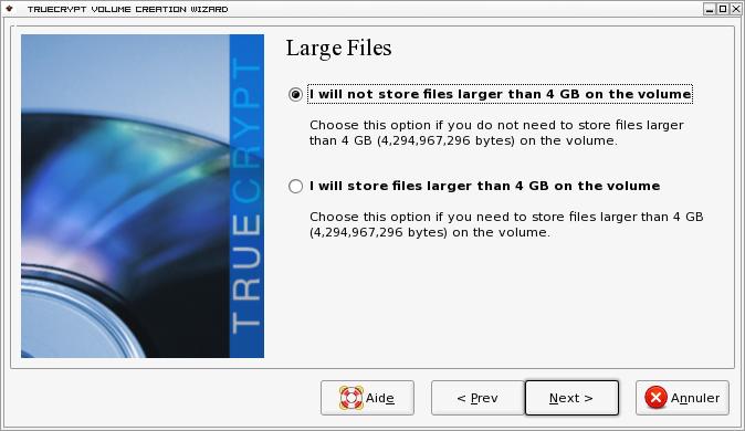 Gros fichiers truecrypt debian