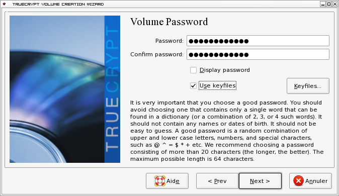 Password truecrypt debian